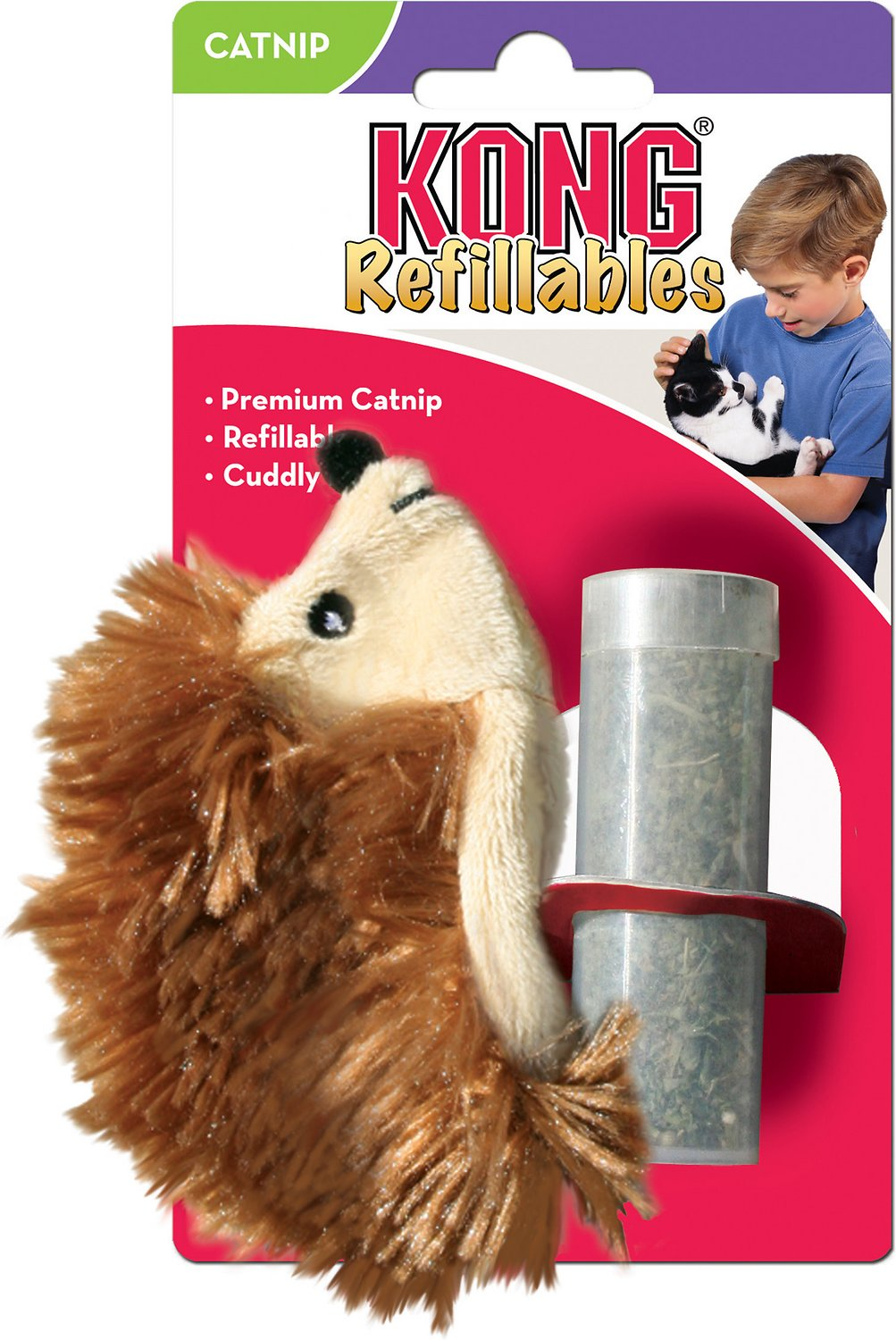 KONG Refillable Hedgehog Catnip Cat Toy