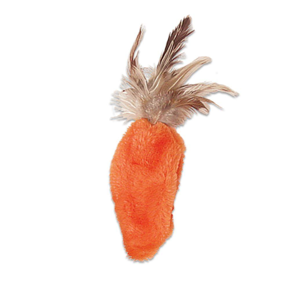 KONG Refillables Carrot with Feather Top Cat Toy