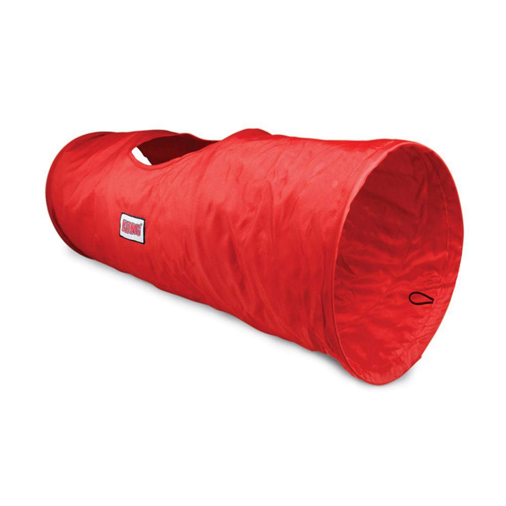 KONG Play Spaces Tunnel Cat Toy, Red