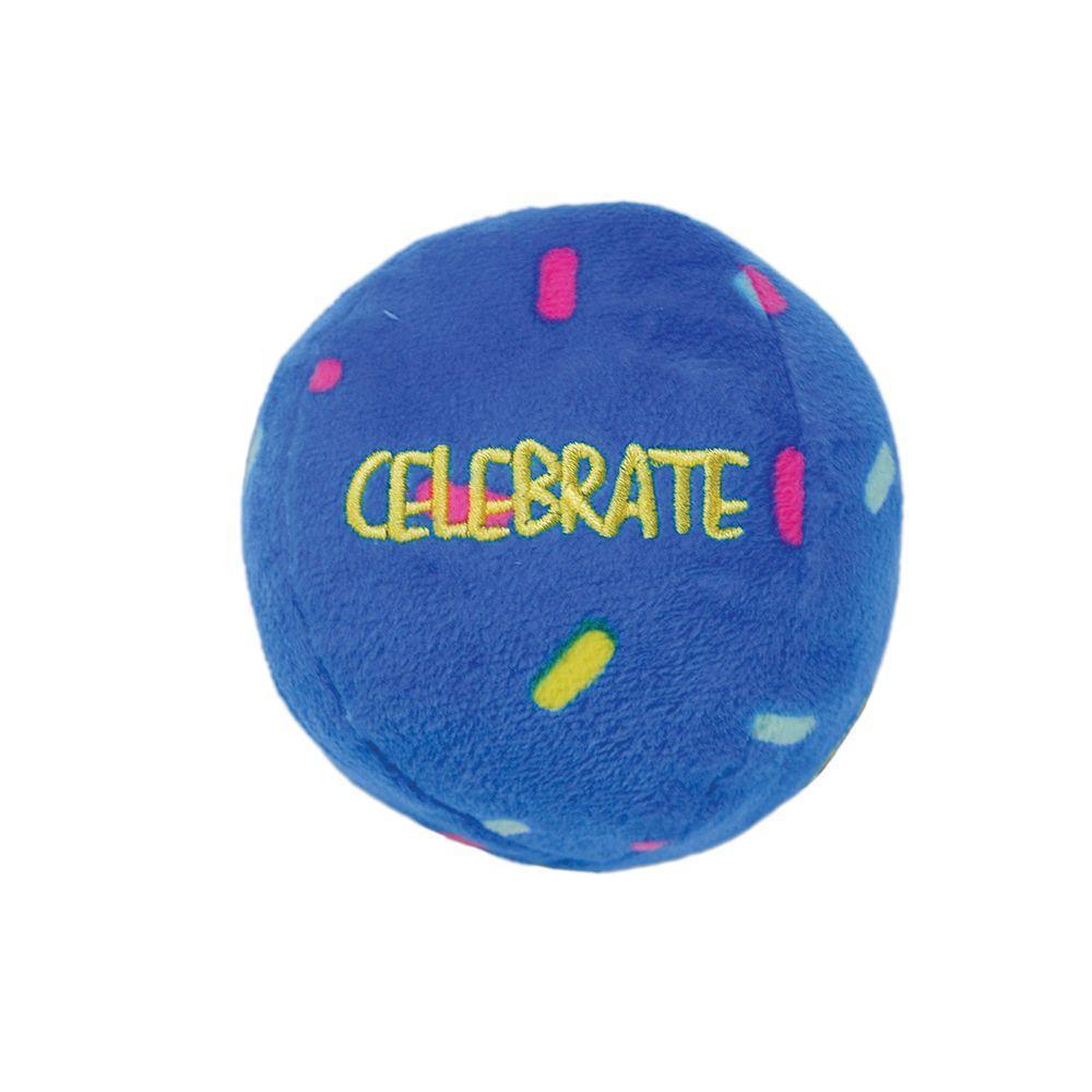 KONG Occasions Birthday Balls Dog Toy, Medium, 2-pk