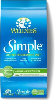 Wellness Simple Limited Ingredient Diet Lamb & Oatmeal Formula Dry Dog Food, 26-lb
