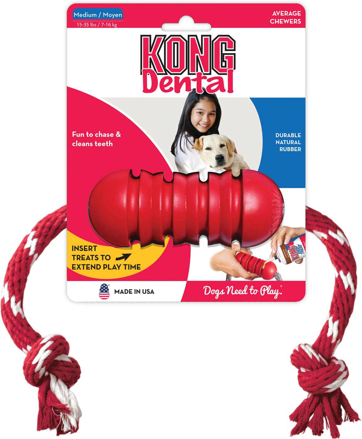 KONG Dental with Rope Dog Toy Image