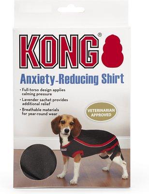 KONG Anxiety-Reducing Dog Shirt, Black, Medium