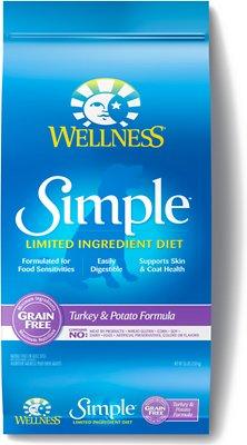 Wellness Simple Limited Ingredient Diet Grain-Free Turkey & Potato Formula Dry Dog Food, 26-lb