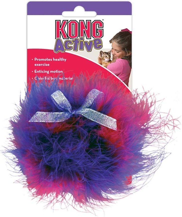 KONG Twisted Boa Puff Cat Toy, Color Varies