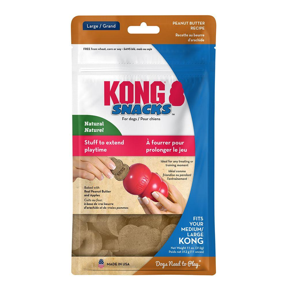 KONG Snacks Peanut Butter Dog Treats, Large