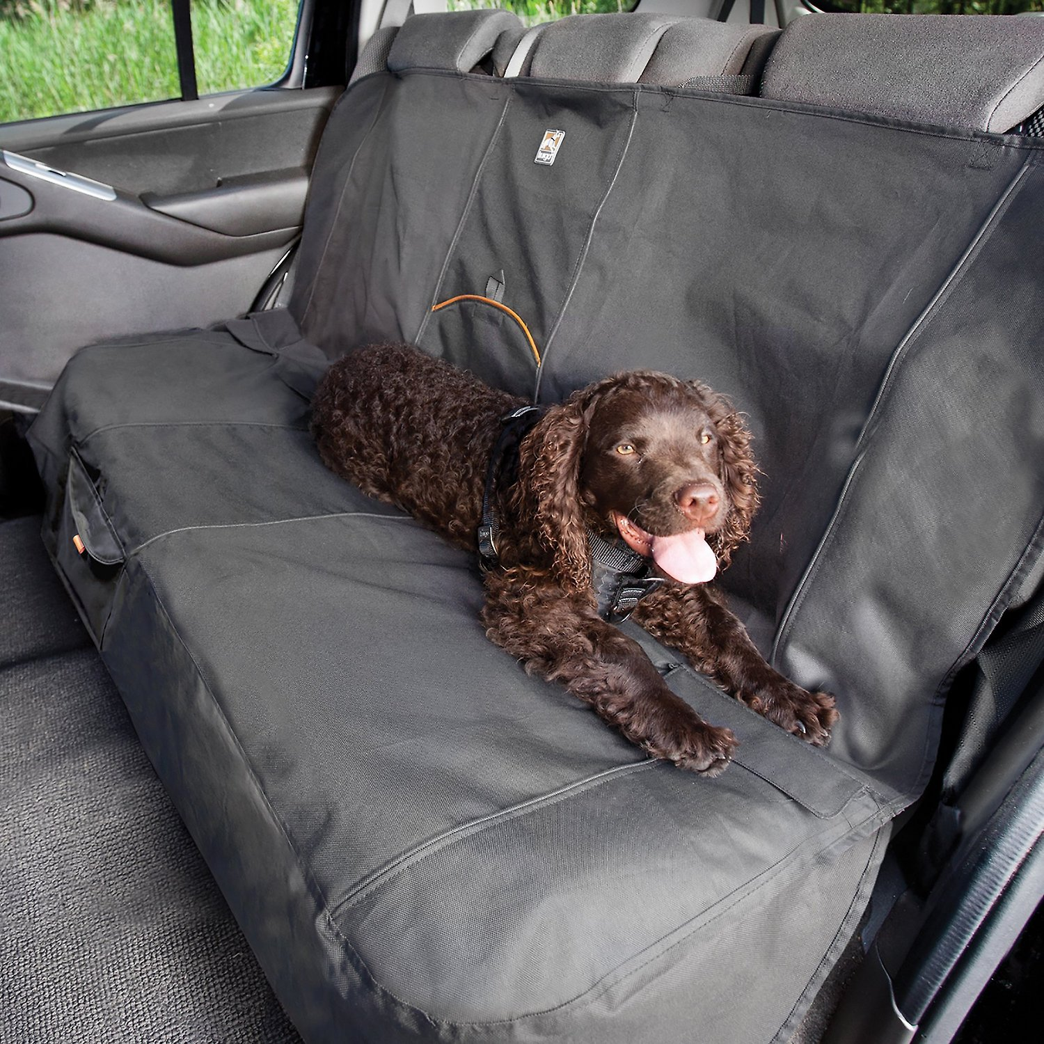 Kurgo Extended Wander Bench Car Seat Cover, Charcoal Grey