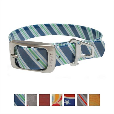 Kurgo Waterproof Muck Dog Collar, Atlantic Blue, Small
