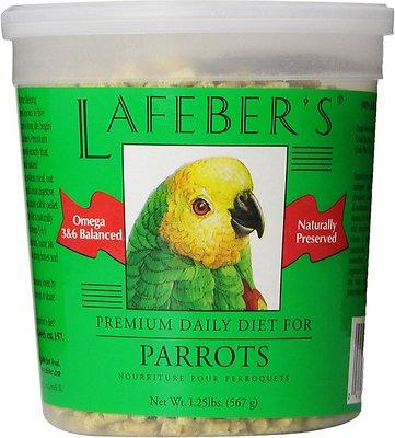Lafeber Premium Daily Diet Parrot Bird Food, 1.25-lb tub
