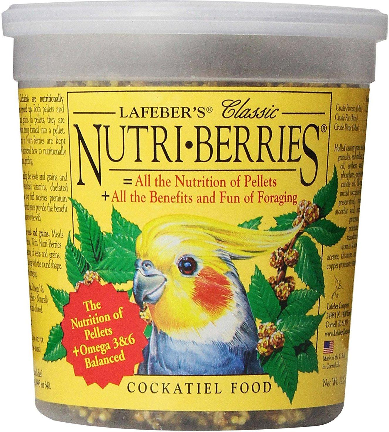 Lafeber Classic Nutri-Berries Cockatiel Bird Food Image