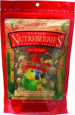 Lafeber El Paso Nutri-Berries Parrot Bird Food, 10-oz bag