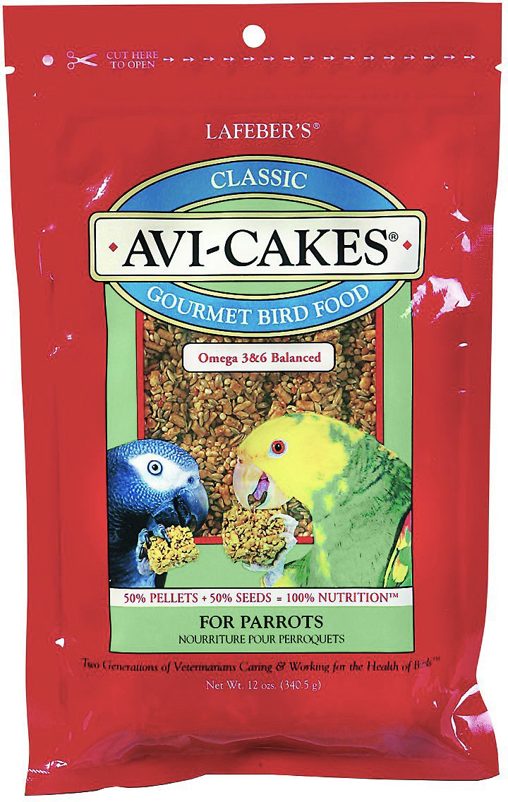 Lafeber Classic Avi-Cakes Parrot Bird Food, 12-oz bag (Weights: 12 ounces) Image