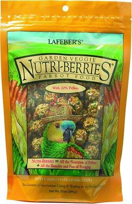 Lafeber Garden Veggie Nutri-Berries Parrot Bird Food, 10-oz bag