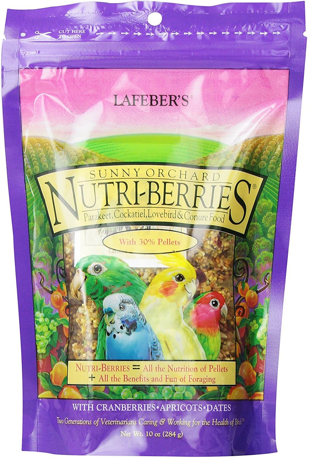 Lafeber Sunny Orchard Nutri-Berries Cockatiel Bird Food, 10-oz bag (Weights: 10 ounces) Image