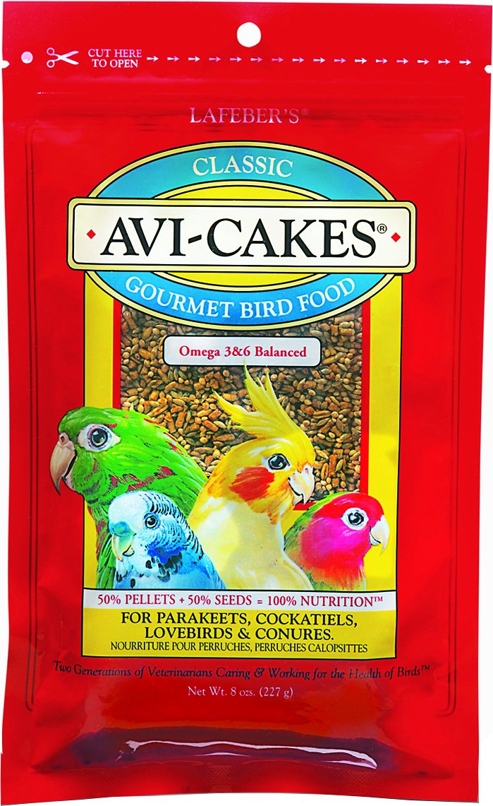 Lafeber Classic Avi-Cakes Small Bird Food, 8-oz bag (Weights: 8 oz) Image