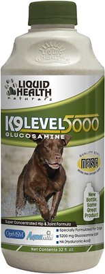 Liquid Health Pets K9 Level 5000 Glucosamine Dog Supplement, 32-oz bottle
