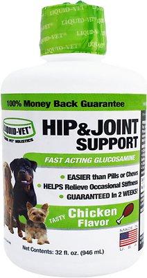 Liquid-Vet Hip & Joint Chicken Dog Supplement, 32-oz