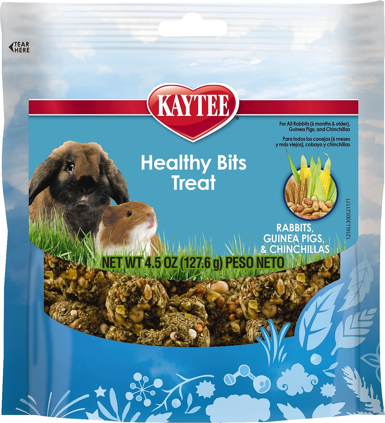 Kaytee Forti-Diet Pro Health Healthy Bits Rabbit, Guinea Pig & Chinchilla Treats, 4.5-oz bag