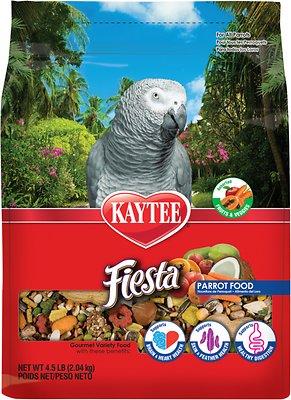 Kaytee Fiesta Variety Mix Parrot Bird Food, 4.5-lb bag