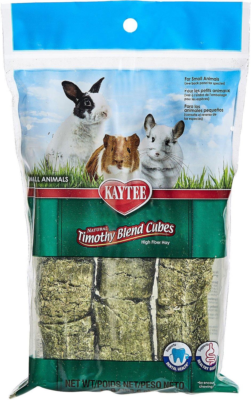 Kaytee Natural Timothy Cubes Small Animal Treats, 1-lb bag Image