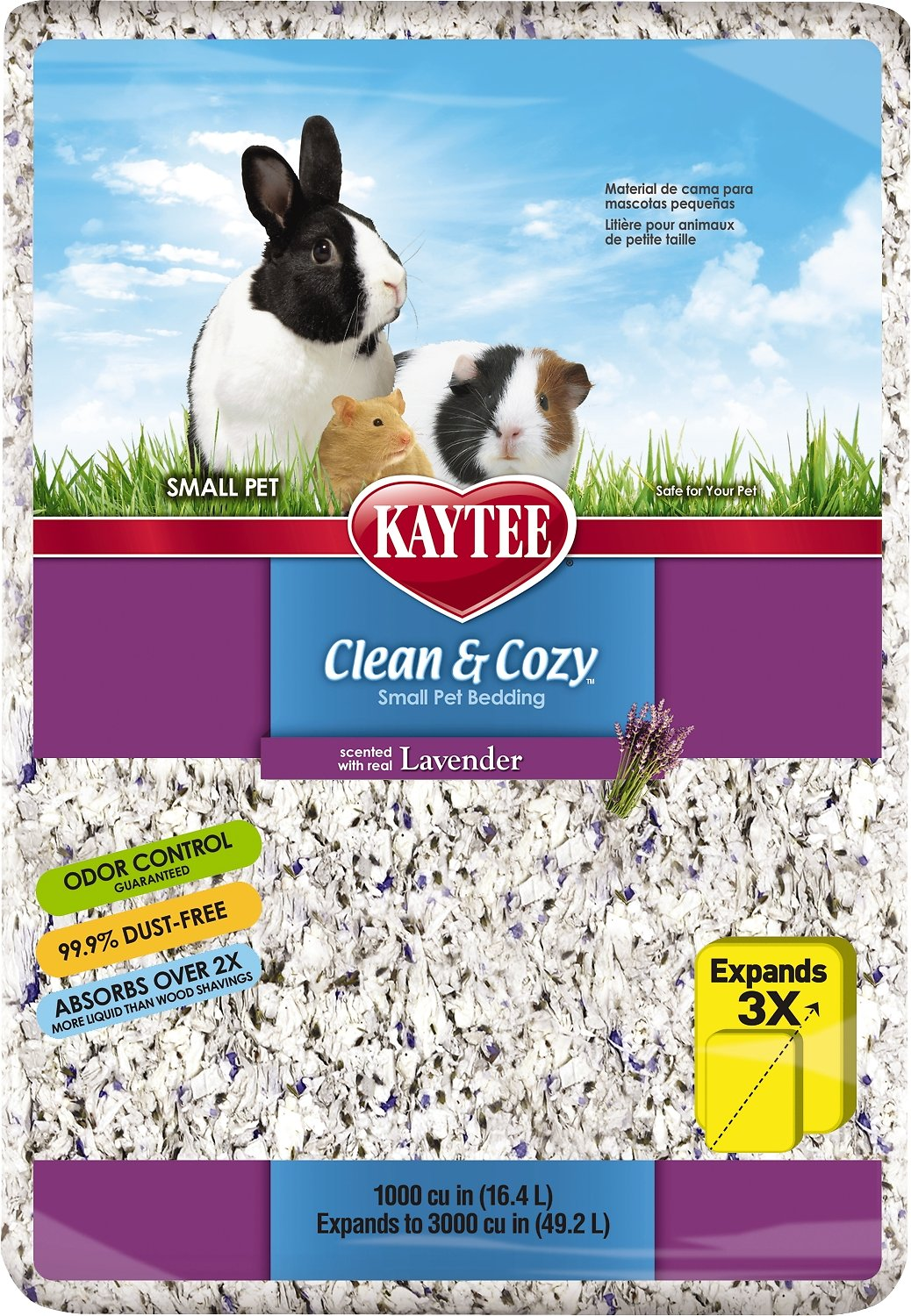 Kaytee Clean & Cozy Scented Small Animal Bedding, Lavender Image