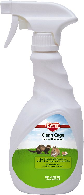 Kaytee Clean Cage Small Animal Habitat Deodorizer Spray, 16-oz bottle Image