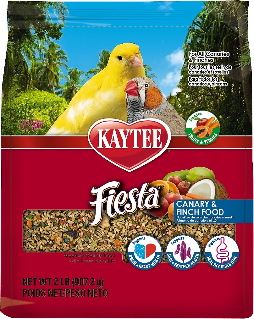 Kaytee Fiesta Variety Mix Canary & Finch Bird Food, 2-lb bag (Weights: 2.0 pounds) Image