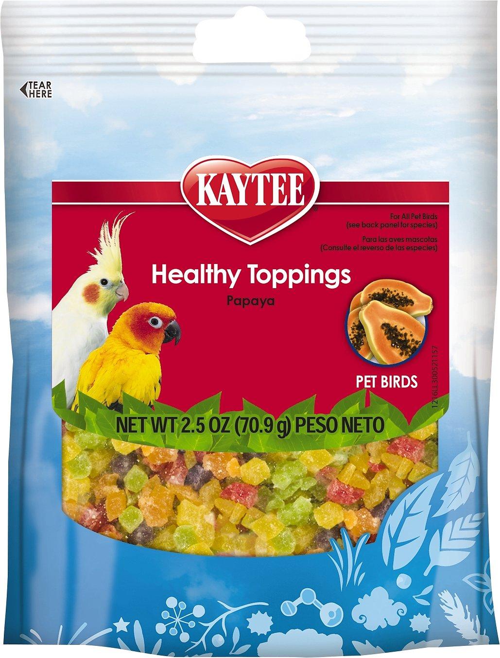 Kaytee Fiesta Healthy Toppings Papaya Bird Treats, 2.5-oz bag