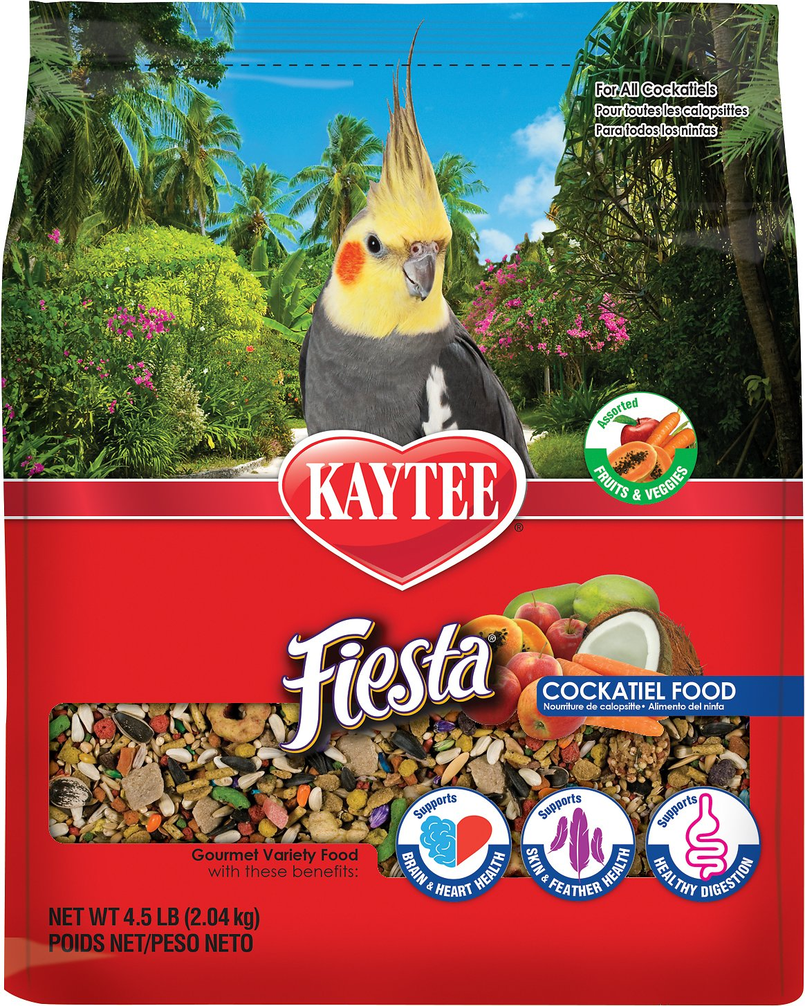 Kaytee Fiesta Variety Mix Cockatiel Bird Food Image