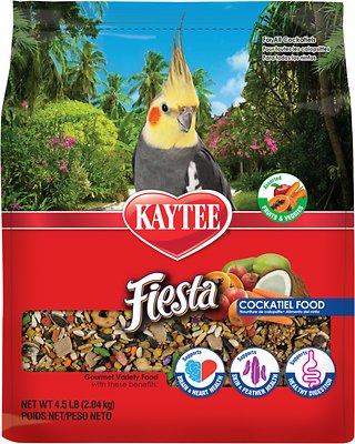 Kaytee Fiesta Variety Mix Cockatiel Bird Food, 4.5-lb bag