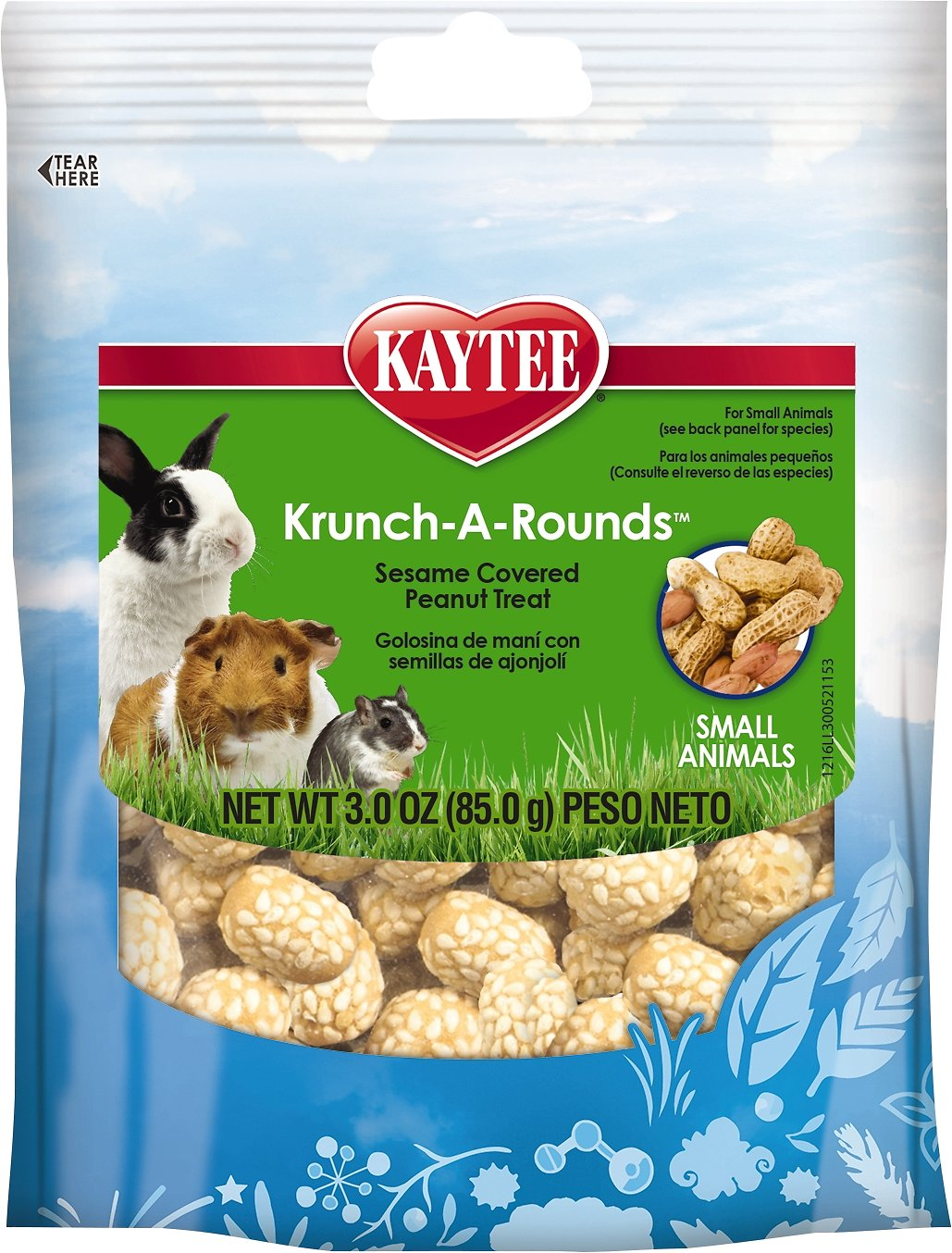 Kaytee Fiesta Krunch-A-Rounds Small Animal Treats, 3-oz bag