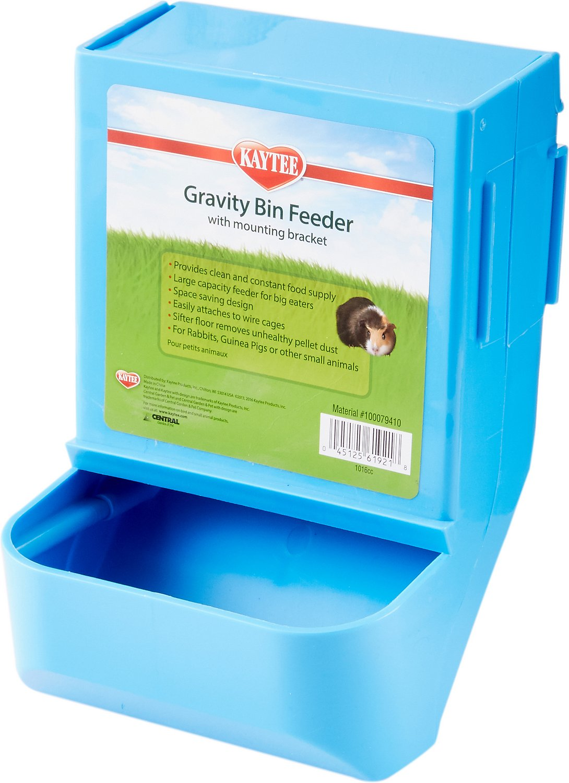 Kaytee Gravity Bin with Mounting Bracket Small Animal Feeder, 8.25-in