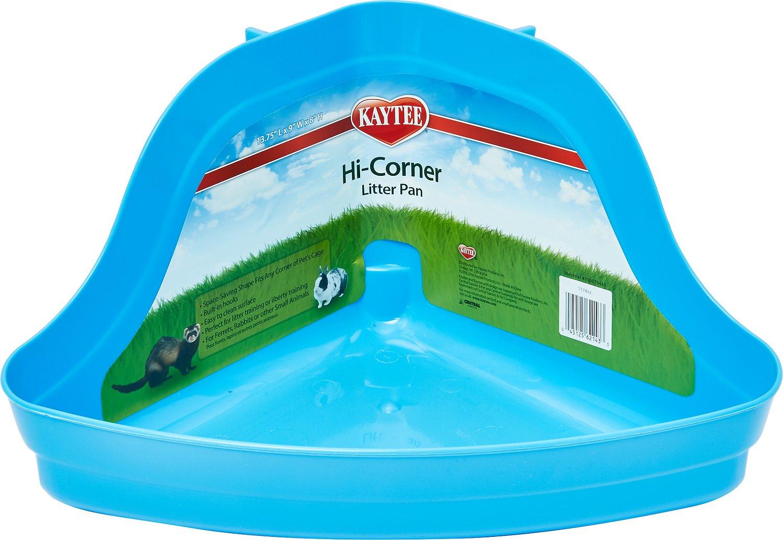 Kaytee H-Corner Small Animal Litter Pan, 13.75-in