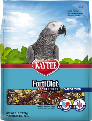 Kaytee Forti-Diet Pro Health Parrot Bird Food, 5-lb bag
