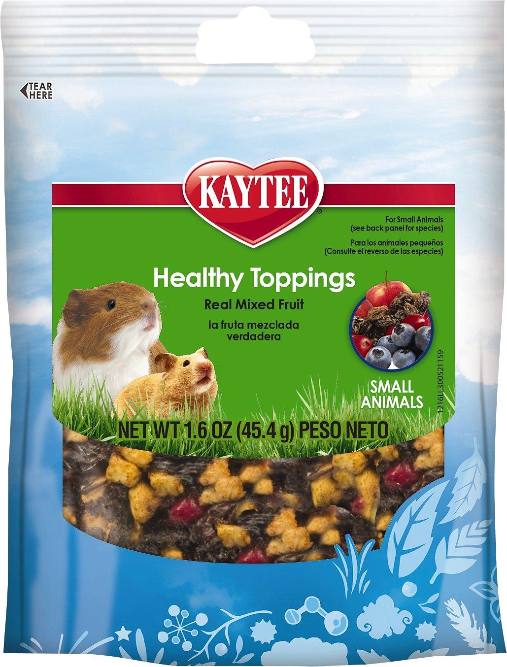Kaytee Fiesta Healthy Toppings Mixed Fruit Small Animal Treats, 1.6-oz bag