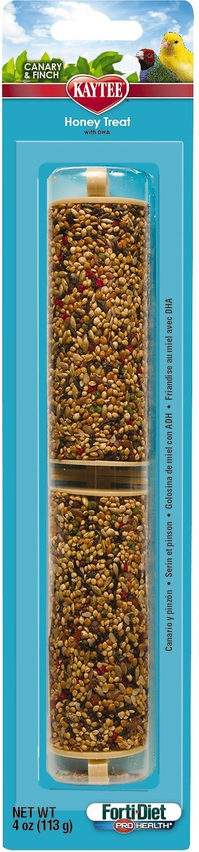 Kaytee Forti-Diet Pro Health Honey Canary & Finch Treat Sticks, 4-oz