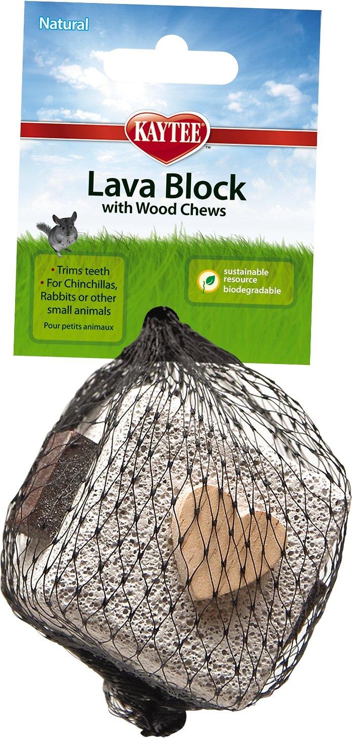 Kaytee Lava Block with Wood Chews Small Animal Toy