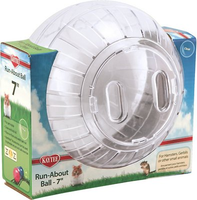 Kaytee Run-About Small Animal Exercise Ball, Clear, 7-in Size: 7-in, Color: Clear