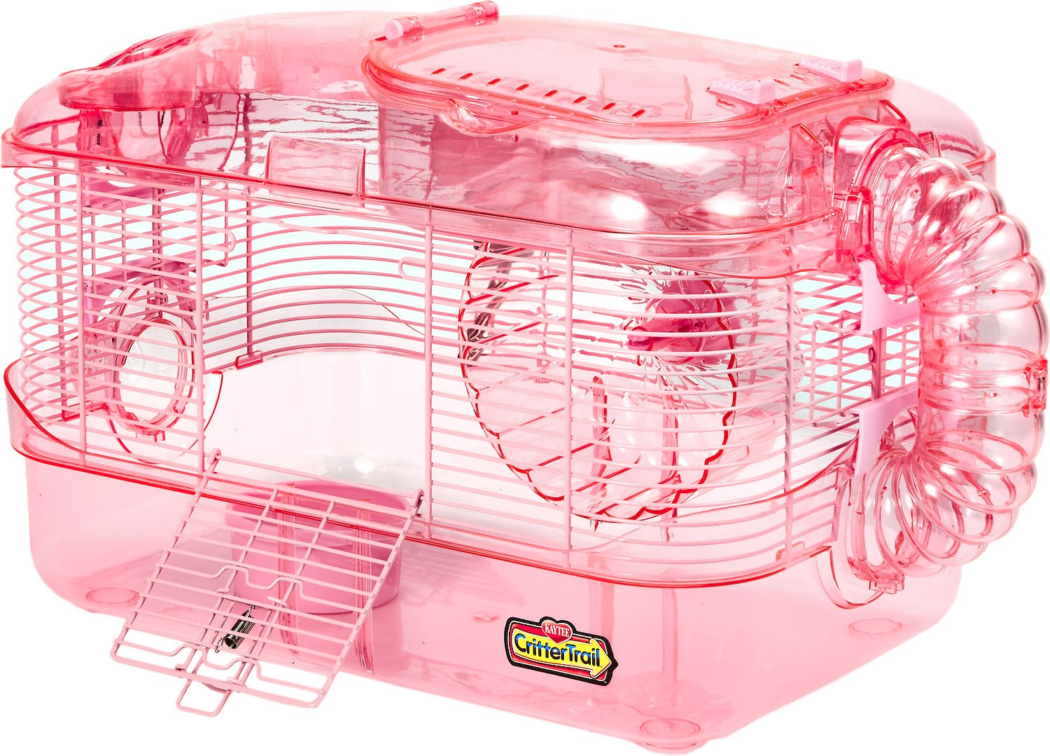 Kaytee CritterTrail One Level Habitat Small Animal Edition, Pink Image