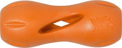 West Paw Qwizl Dog Toy, Tangerine Orange, Large