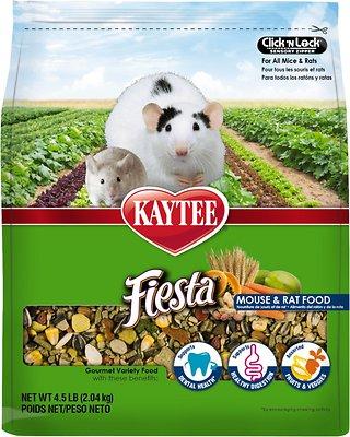 Kaytee Fiesta Gourmet Variety Diet Rat & Mouse Food, 4.5-lb bag