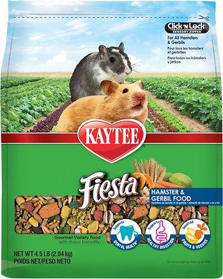 Kaytee Fiesta Gourmet Variety Diet Hamster & Gerbil Food, 4.5-lb bag
