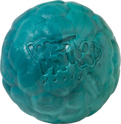 West Paw Zogoflex Air Boz Ball Dog Toy, Peacock, Small