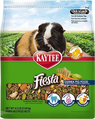 Kaytee Fiesta Gourmet Variety Diet Guinea Pig Food, 4.5-lb bag