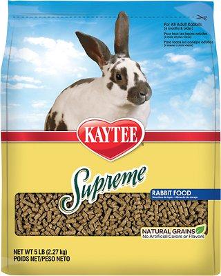 Kaytee Supreme Fortified Daily Diet Rabbit Food, 5-lb bag