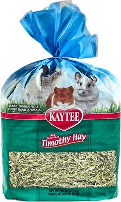 Kaytee Natural Timothy Hay Small Animal Food, 96-oz bag