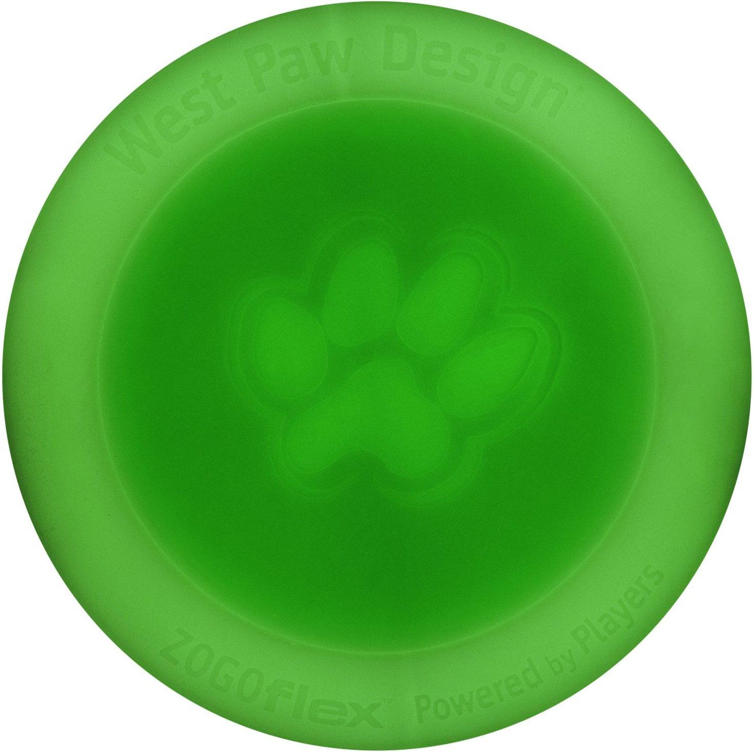 West Paw Zogoflex Zisc Dog Toy, Glow, Small