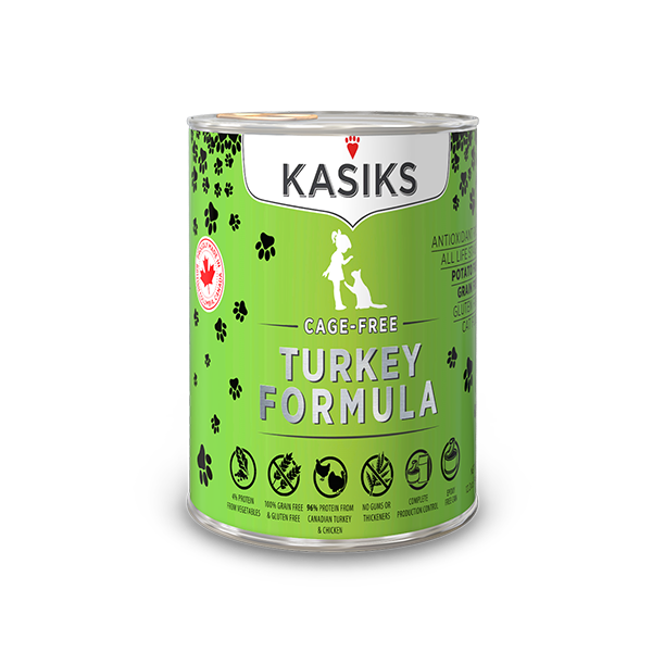 KASIKS Cage-Free Turkey Formula Grain-Free Canned Cat Food, 5.5-oz