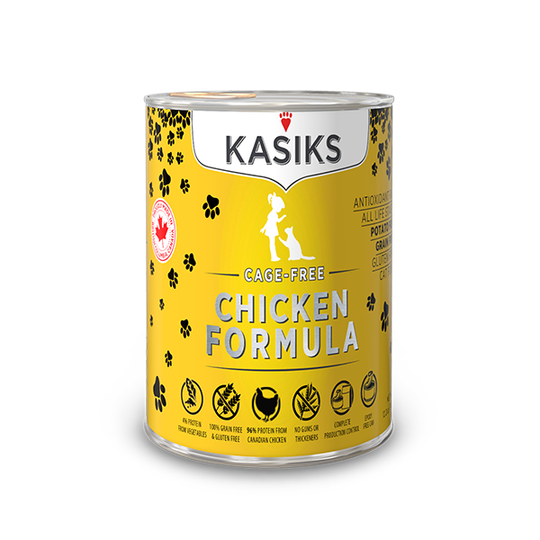 KASIKS Cage-Free Chicken Formula Grain-Free Canned Cat Food, 12.2-oz