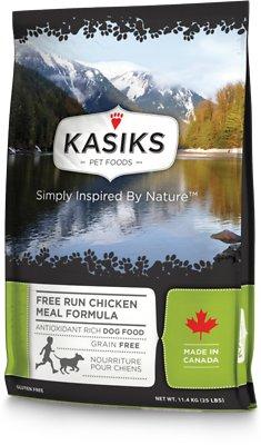 KASIKS Free Run Chicken Meal Formula Grain-Free Dry Dog Food, 25-lb